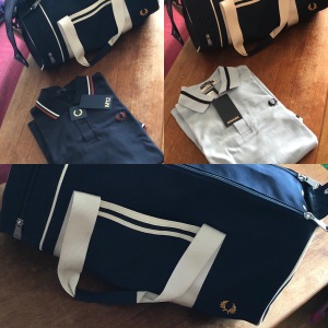 Peter Molander & Fred Perry M2, Fred Perry M12 och Fred Perry bag